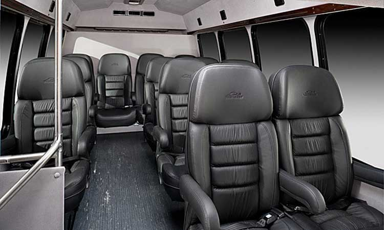 Conroe Limousine - 18 Passengers Corporate Limo Bus - Inside